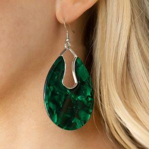 Pool Hopper - Green Earrings